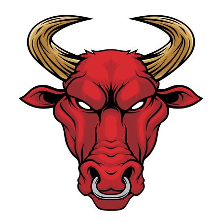 Stieren hoofd.