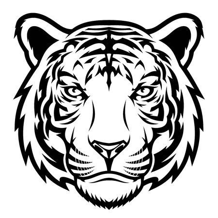 Cabeza de tigre. Ilustración de vector
