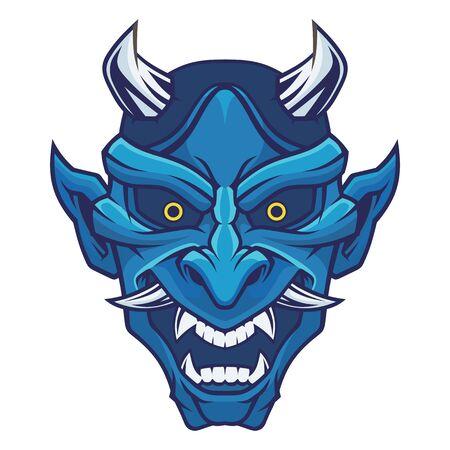 Mask of hannya. Demon mask.