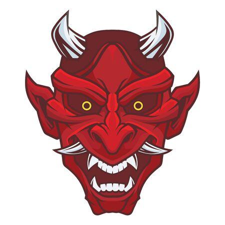 Masque de Hannya. Masque de démon.