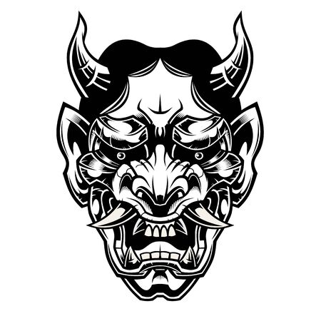 Mask of hannya. Demon mask.