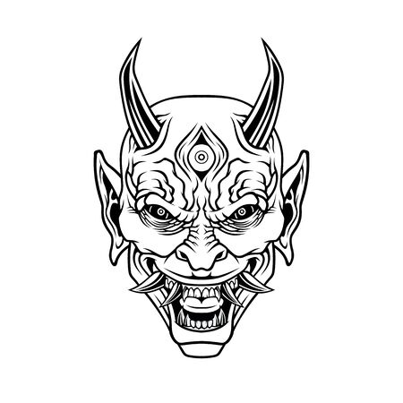 Demon head. Иллюстрация