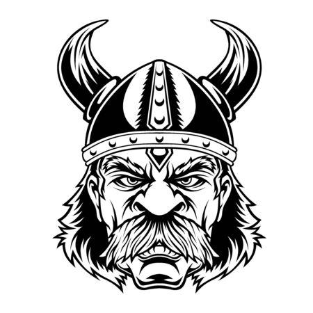 Viking warrior head.