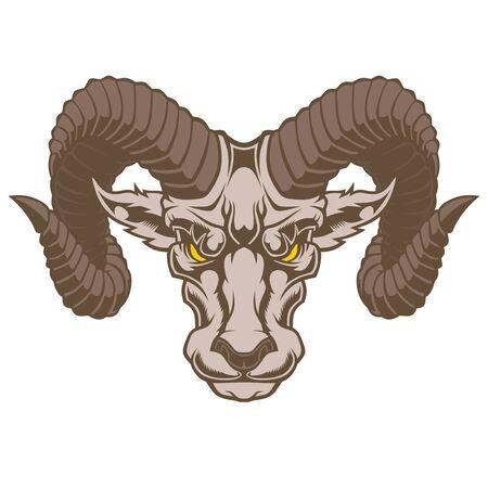 Illustration of Aries Zodiac Sign.