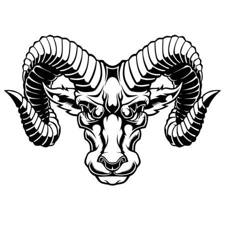 Illustration of Aries Zodiac Sign.