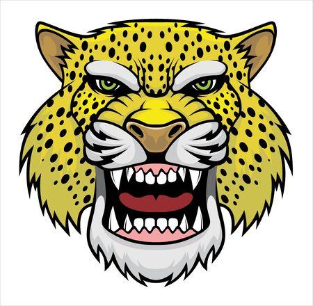 Illustration of Angry leopard head. Illustration