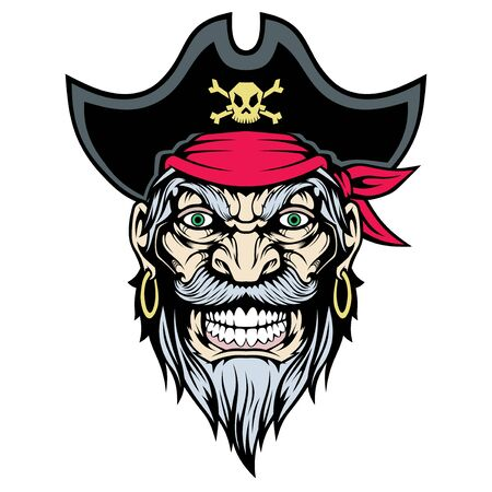 Illustration of Pirate Mascot.