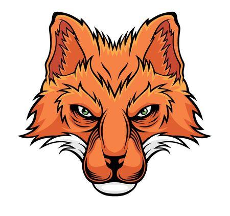 Fox head. Illustration