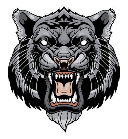 Angry tiger head illustration  イラスト・ベクター素材