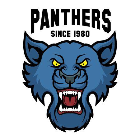 Mascot Panthers - sport team template. Векторная Иллюстрация