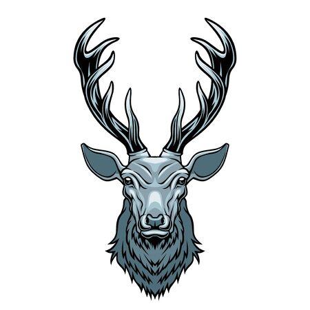 Deer head. Illustration