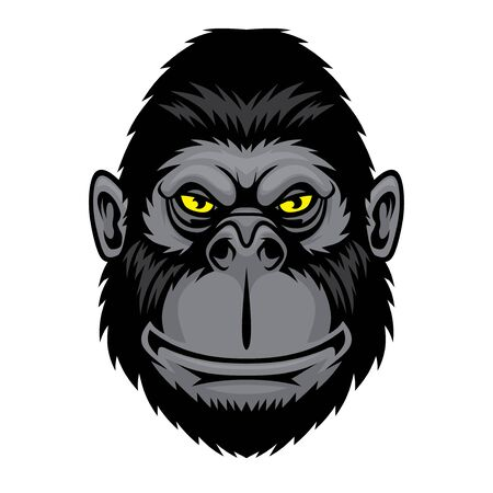 Funny monkey. Ilustración de vector