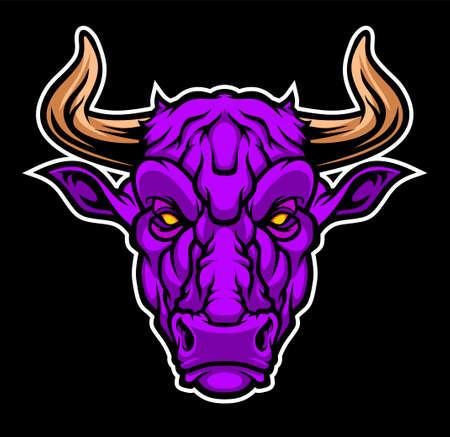 Bull head mascot.