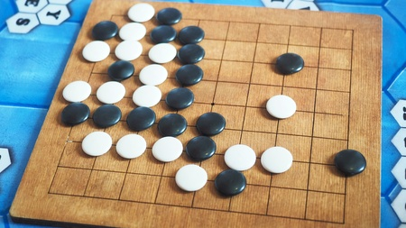 the game of go on the table