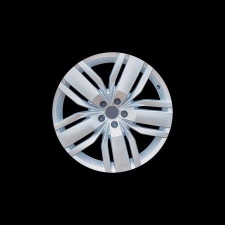 car cast disk on a black background.