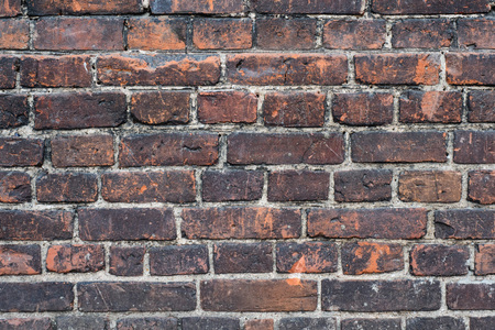 red brick wall texture grunge background, can use for interior design