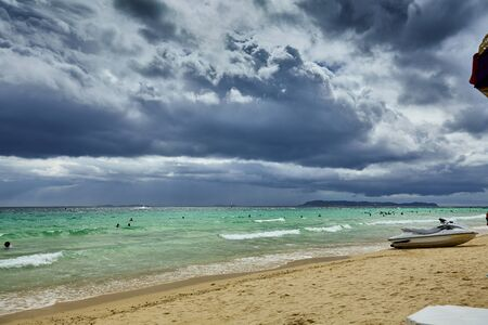 THAILAND boat sea sky beach Stock Photo