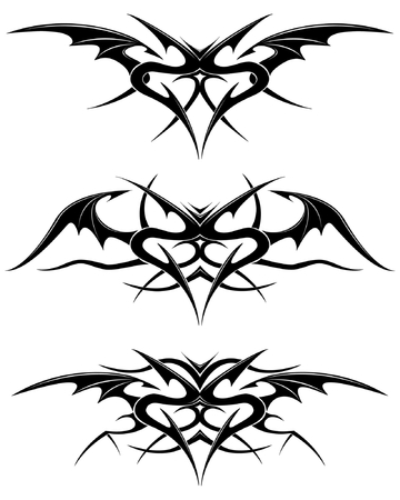 Black tattoo isolated on white Vector
