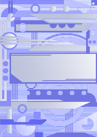 Geometry background with blue and grey elements Vector