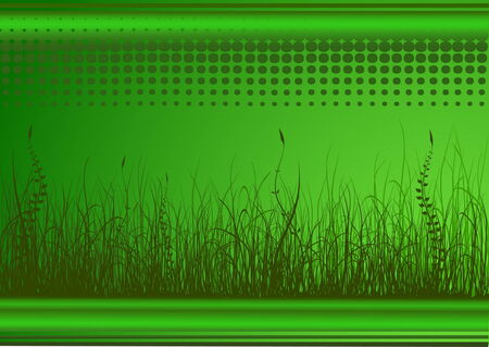 rural area: Green background with grass and place for text