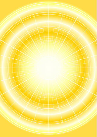 Digital bright star with grid on yellow background Vector