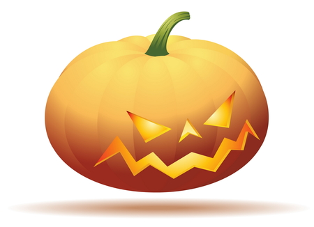 halloween pumpkin - isolated on white Vector