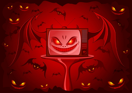 vamp: Red Evil TV - real face of our television Illustration
