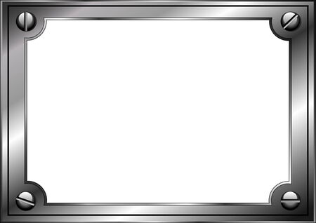 steel frame: Steel frame with screws isolated on white