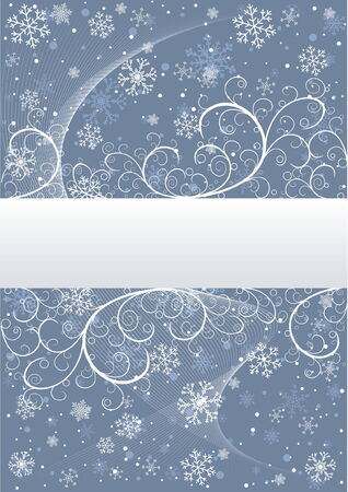 Abstract winter background with snowflakes and place for text Stock Vector - 4069509