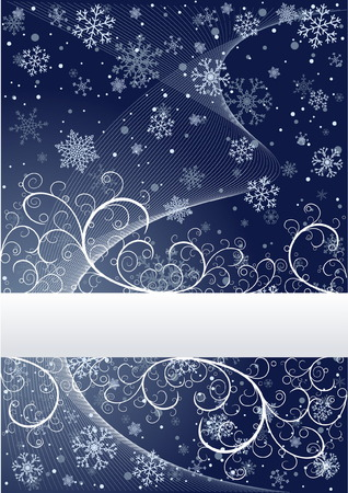Abstract winter background with snowflakes and place for text Stock Vector - 4069511