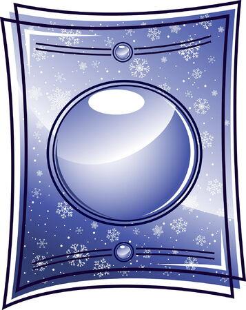 Glass winter frame Vector