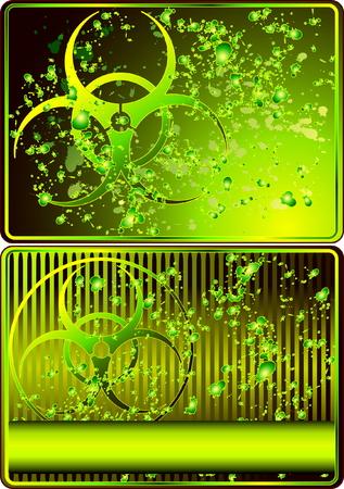 symbole chimique: Jeu de cartes avec signe biohazard Illustration