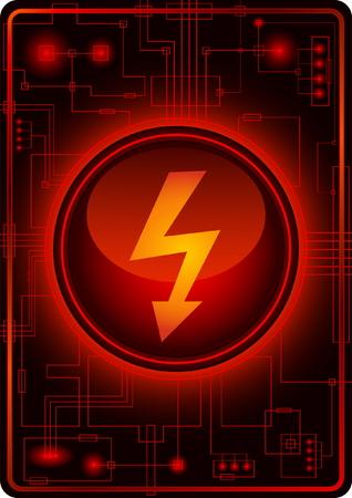 voltage danger icon: Danger button