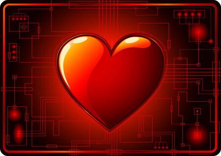 Dark Valentines Day Background Stock Vector - 4261486