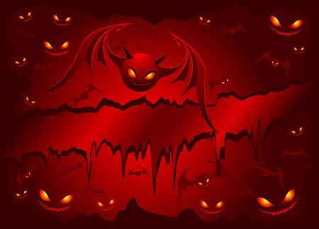 Evil bats Vector