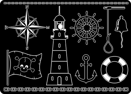 Nautical Icons Stock Vector - 4464485