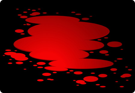 Red plash of blood isolated on black Vector
