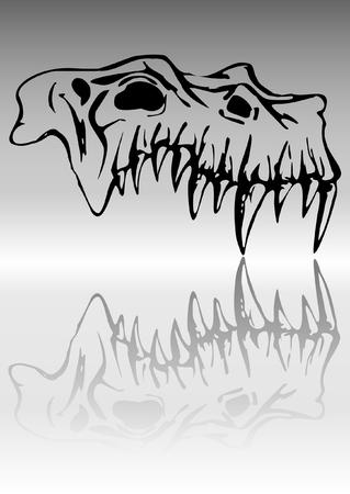 Skull of demon Vector