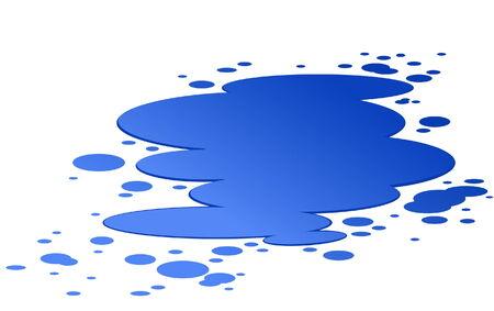 Plash azul del agua aislado en blanco