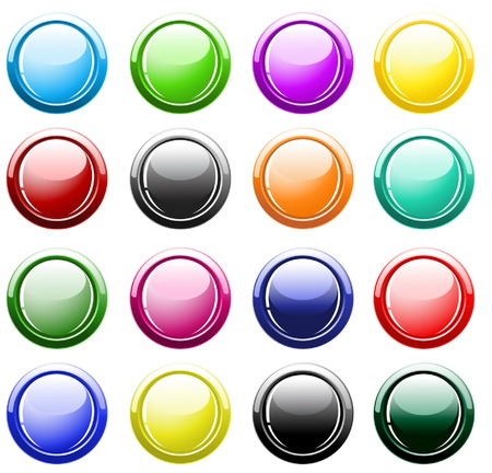 Glossy buttons isolated on white Stock Vector - 4701687