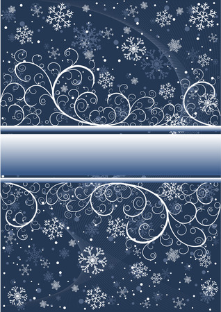 Abstract winter background with snowflakes and place for text Vector
