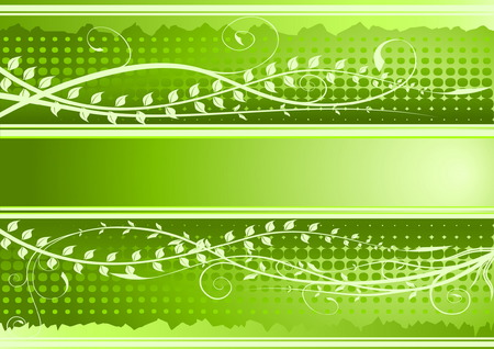 Green floral background with copy-space Vector