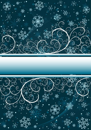 Abstract christmas background with snowflakes and copy space Vector
