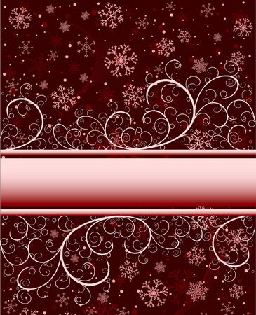 Abstract winter background with snowflakes and place for text Stock Vector - 5236277