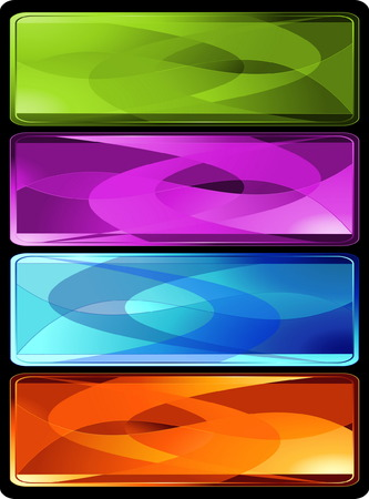 Set of four horizontal colored banners or bookmarks Vector