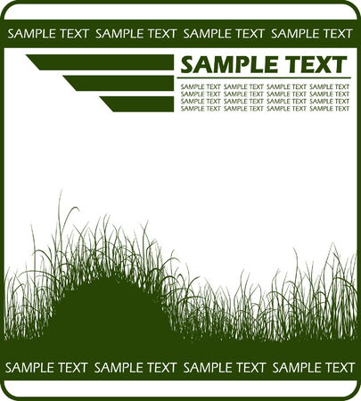 Background with grass and copy space Stock Vector - 5448842