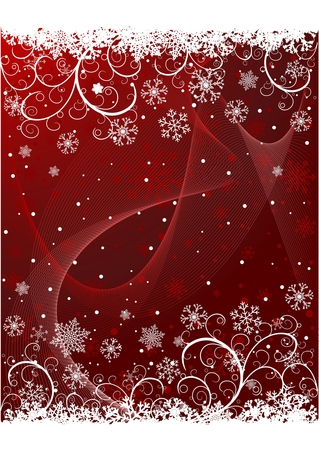 Abstract Christmas background with snowflakes and copy-space Vector