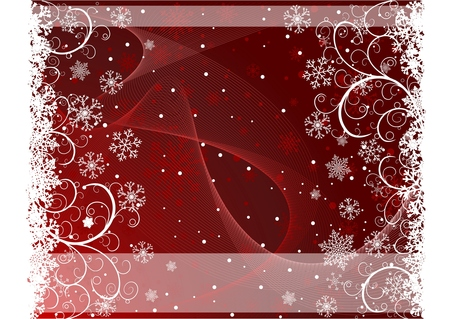 Abstract Christmas background with snowflakes and copy-space 矢量图像
