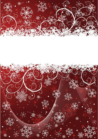 Abstract Christmas background with snowflakes and place for text Stock Vector - 5756432