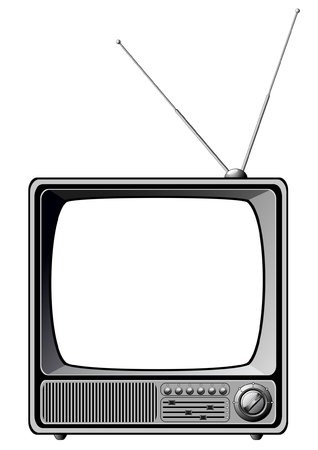Retro TV isolated on white  Illustration